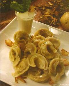 Пельмени картофельные с грибами