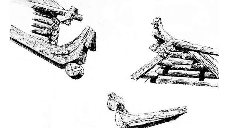 Крыша с изголовьем лошади