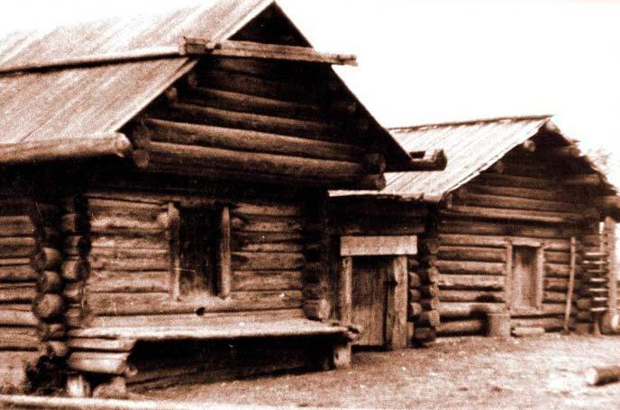 Дом коми-пермяка старое фото