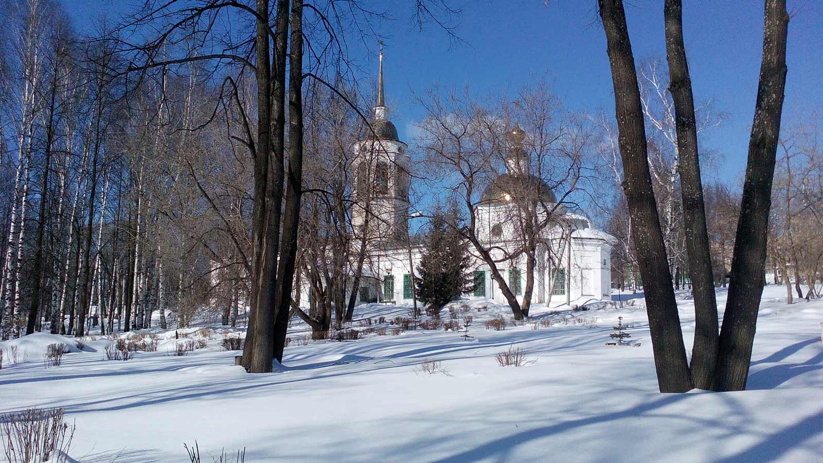 Парк в Кудымкаре фото зимой