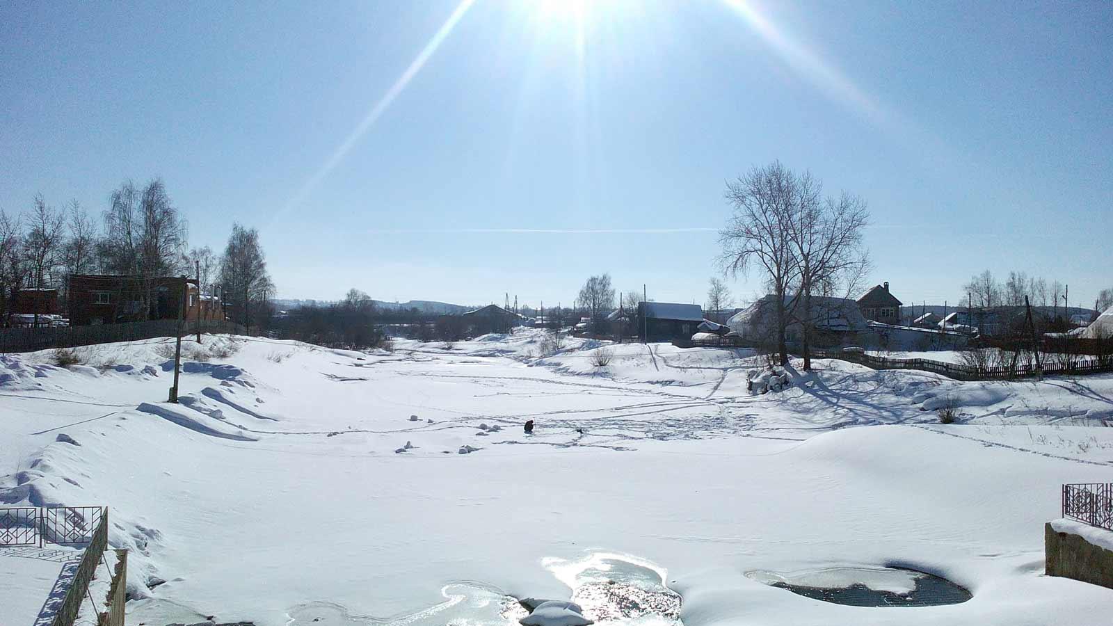 Река Кува Зимой