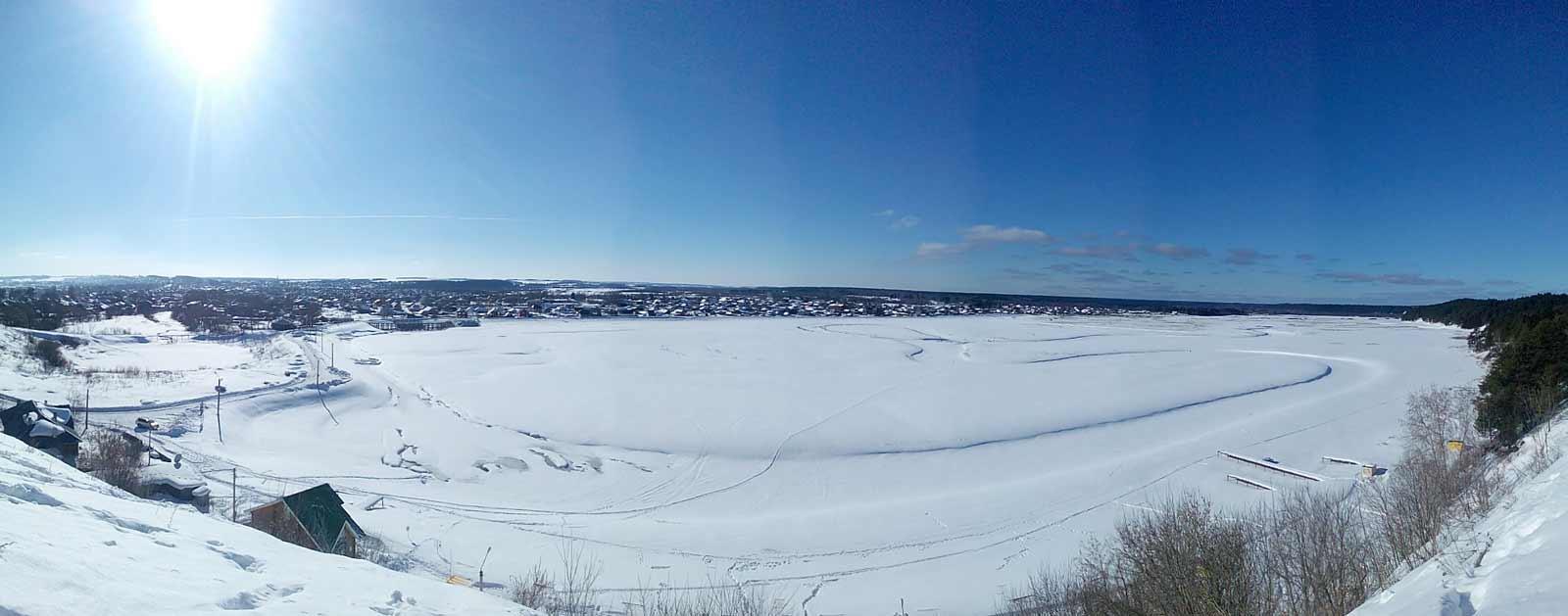 Кудымкарский пруд - панорама