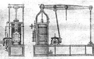 Чертеж паровой машины 1820 год