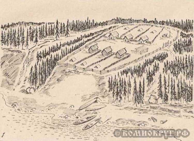Иллюстрация Кудымкарского городища