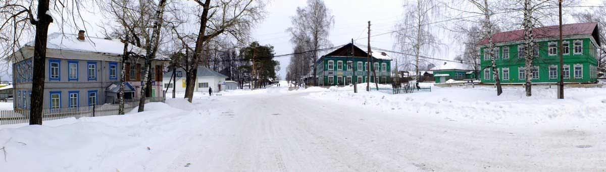 Общий вид села Белоево